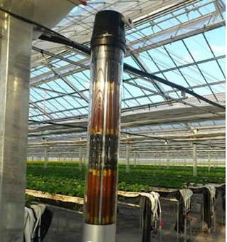 (1)外形:       圆柱型染料敏化太阳能电池长1m,可竖著